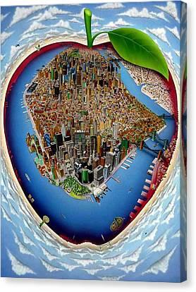 Liberty Avenue Canvas Print - New York World by Brett Sauce