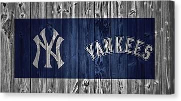 New York Yankees Barn Door Canvas Print
