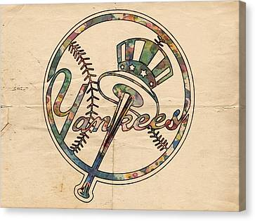 New York Yankees Poster Vintage Canvas Print by Florian Rodarte