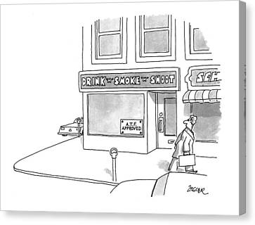 New Yorker April 12th, 1993 Canvas Print by Jack Ziegler