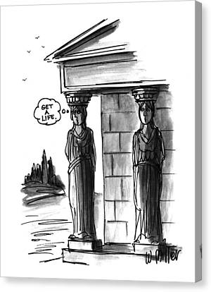 Caryatids Canvas Print - New Yorker April 12th, 1993 by Warren Miller