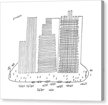 New Yorker April 13th, 1957 Canvas Print