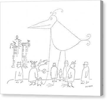 New Yorker April 16th, 1955 Canvas Print by Saul Steinberg