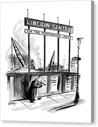 New Yorker April 16th, 1960 Canvas Print by Barney Tobey