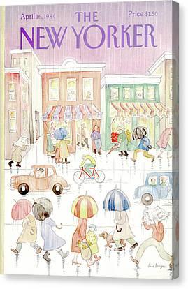New Yorker April 16th, 1984 Canvas Print