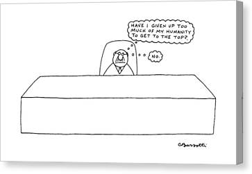 New Yorker April 18th, 1988 Canvas Print by Charles Barsotti