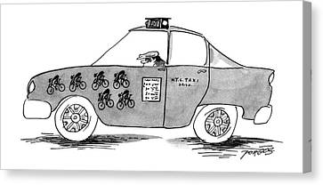 Driver Canvas Print - New Yorker April 1st, 1996 by Peter Porges