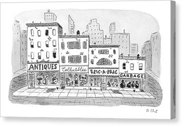 New Yorker April 20th, 1998 Canvas Print by Roz Chast