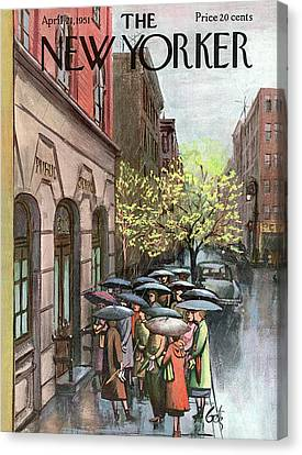 New Yorker April 21st, 1951 Canvas Print