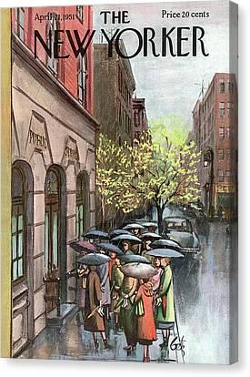 New Yorker April 21st, 1951 Canvas Print by Arthur Getz