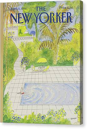 New Yorker April 21st, 1986 Canvas Print by Jean-Jacques Sempe