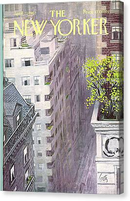 City Canvas Print - New Yorker April 22nd, 1967 by Arthur Getz