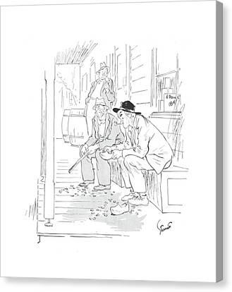 New Yorker April 24th, 1943 Canvas Print by Kemp Starrett