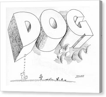 New Yorker April 25th, 1970 Canvas Print by Saul Steinberg
