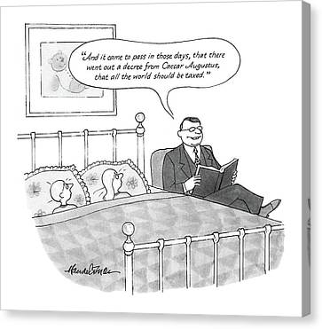 New Yorker April 25th, 1988 Canvas Print by J.B. Handelsman