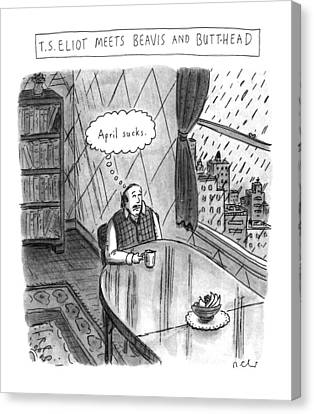 New Yorker April 25th, 1994 Canvas Print by Roz Chast