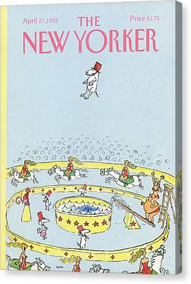 New Yorker April 27th, 1992 Canvas Print by George Booth