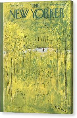 Secluded Canvas Print - New Yorker April 28th, 1951 by Abe Birnbaum