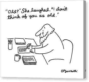New Yorker April 28th, 1986 Canvas Print by Charles Barsotti