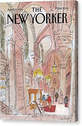 New Yorker April 28th, 1986 Canvas Print by James Stevenson