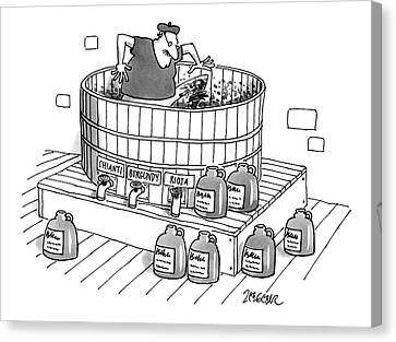 Grapes Canvas Print - New Yorker April 28th, 1997 by Jack Ziegler