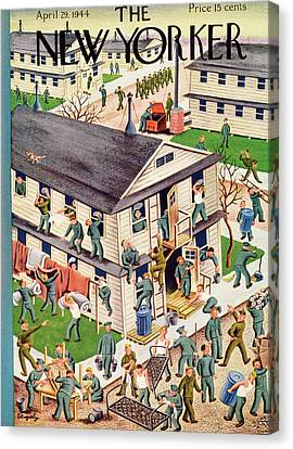 New Yorker April 29th, 1944 Canvas Print by Tibor Gergely