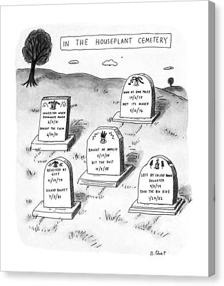 New Yorker April 29th, 1991 Canvas Print by Roz Chast