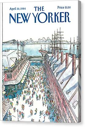 1984 Canvas Print - New Yorker April 30th, 1984 by Arthur Getz