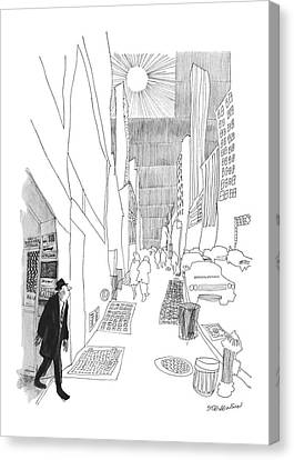 New Yorker April 3rd, 1965 Canvas Print by James Stevenson