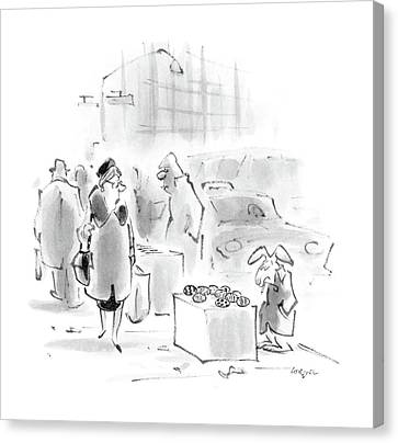 Cardboard Canvas Print - New Yorker April 4th, 1988 by Lee Lorenz