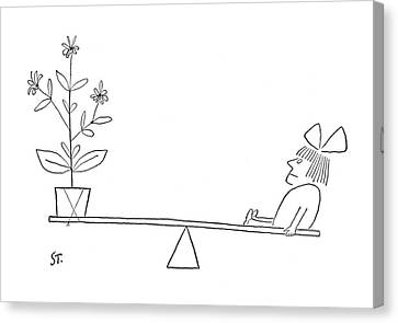 New Yorker April 5th, 1952 Canvas Print by Saul Steinberg