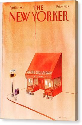 New Yorker April 5th, 1982 Canvas Print