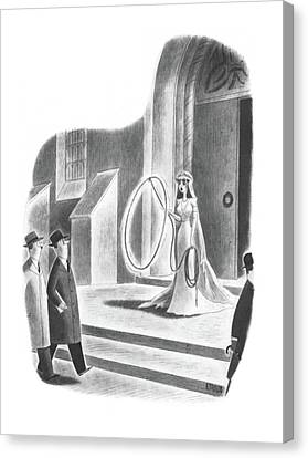 Nuptials Canvas Print - New Yorker April 6th, 1940 by Richard Taylor