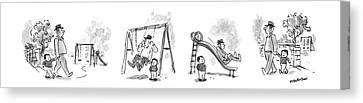 Slide Canvas Print - New Yorker April 6th, 1987 by James Stevenson