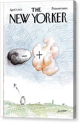 New Yorker April 7th, 1975 Canvas Print by Saul Steinberg
