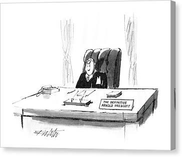 New Yorker April 7th, 1986 Canvas Print