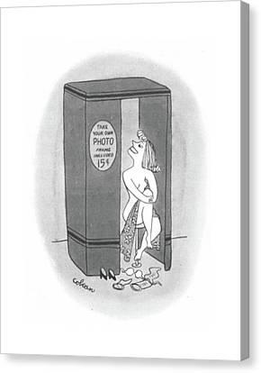 New Yorker April 8th, 1944 Canvas Print by Sam Cobean