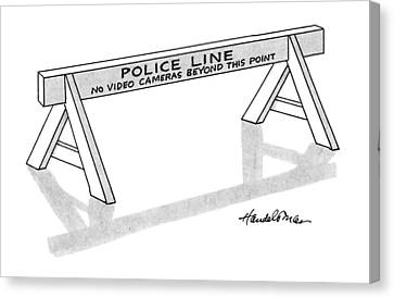 Police Canvas Print - New Yorker April 8th, 1991 by J.B. Handelsman