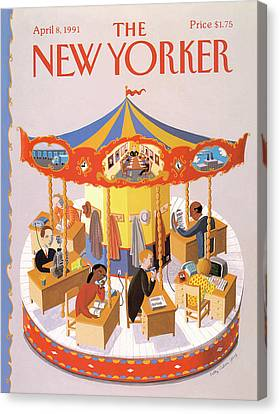 New Yorker April 8th, 1991 Canvas Print by Kathy Osborn