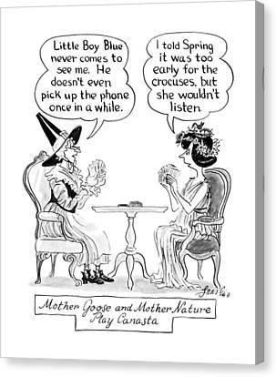 New Yorker April 9th, 1990 Canvas Print by Edward Frascin