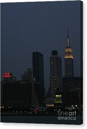 New Yorker At Night Canvas Print by Avis  Noelle