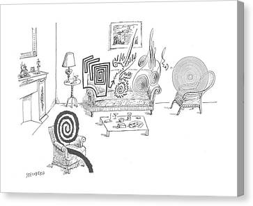 New Yorker August 11th, 1962 Canvas Print by Saul Steinberg