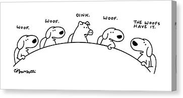 New Yorker August 11th, 1997 Canvas Print by Charles Barsotti