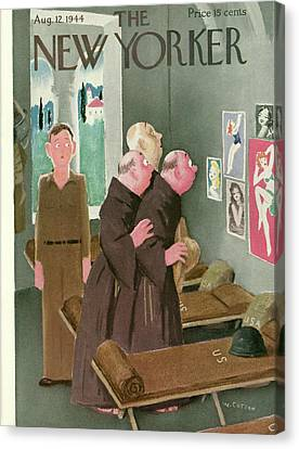 New Yorker August 12th, 1944 Canvas Print by Will Cotton