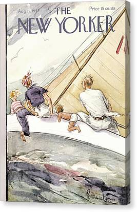 Mother Canvas Print - New Yorker August 15th, 1942 by Perry Barlow