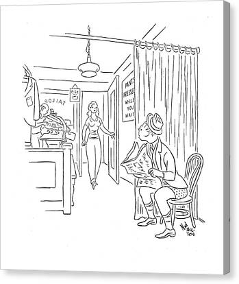 New Yorker August 16th, 1941 Canvas Print by Ned Hilton