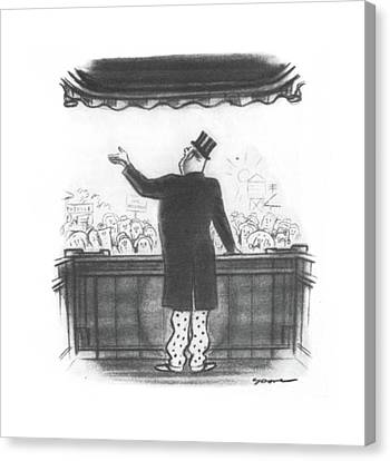 New Yorker August 17th, 1940 Canvas Print by Leonard Dove