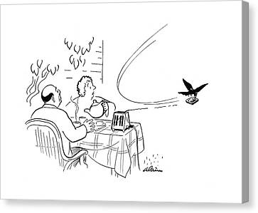 Raven Canvas Print - New Yorker August 19th, 1944 by  Alain