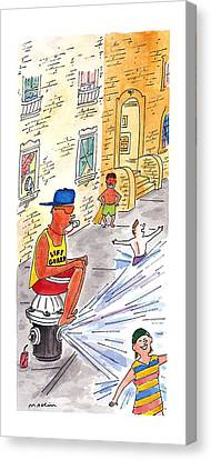 New Yorker August 19th, 1996 Canvas Print by Michael Maslin