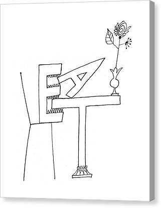 New Yorker August 20th, 1960 Canvas Print by Saul Steinberg